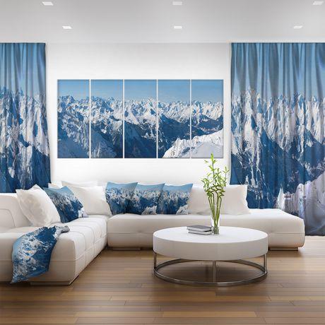 Design Art Panorama Des Alpes Français  Art Sur Toile - image 2 de 3