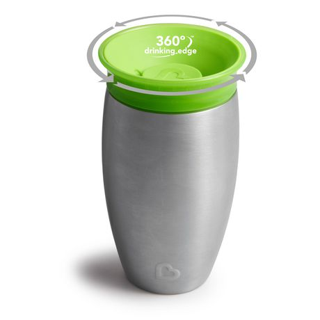 Munchkin Miracle® Stainless Steel 360° Sippy Cup - 10oz - image 1 of 8