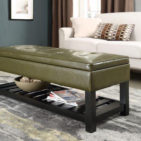 pouf de rangement rectangulaire avec bouton pour ouvrir essex pour l 39 entr e de wyndenhall. Black Bedroom Furniture Sets. Home Design Ideas
