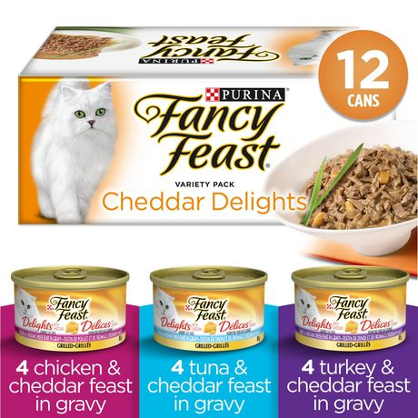 Fancy Feast Wet Cat Food, Cheddar Delights Grilled Variety Pack - image 1 of 5