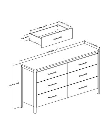 South Shore Gravity 6 Drawer Double Dresser Walmart Canada