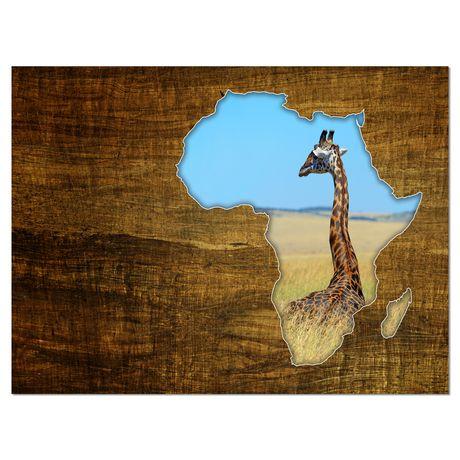 Design Art Africa Wildlife Map Design Canvas Print - image 1 of 3