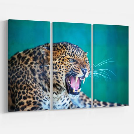 Design Art Wild Leopard Close up View Canvas Print - image 1 of 3