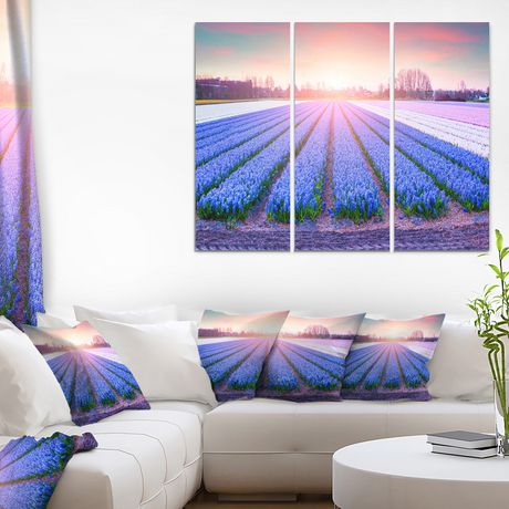 Design Art Field of Blooming Hyacinth Flowers Canvas Print - image 2 of 3