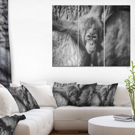 Design Art Jeune Orang-Outan Art Sur Toile - image 2 de 3