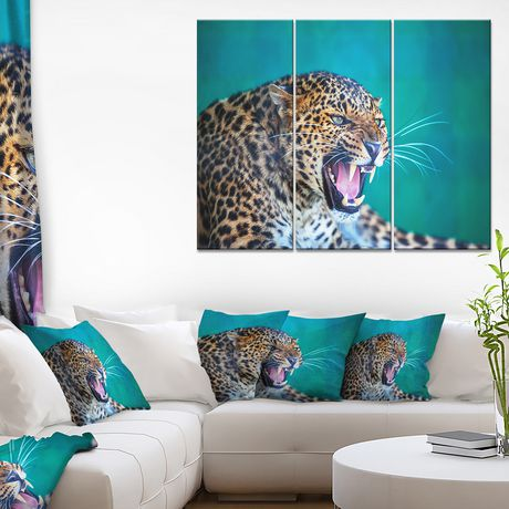 Design Art Wild Leopard Close up View Canvas Print - image 2 of 3