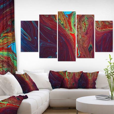 design art peinture acrylique rouge fonc art sur toile walmart canada. Black Bedroom Furniture Sets. Home Design Ideas