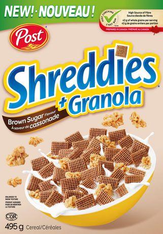 Post Shreddies Brown Sugar Flavour + Granola 395g - image 1 of 2
