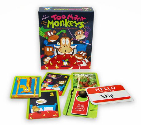 Gamewright Too Many Monkeys: A Totally Bananas Card Game - image 1 of 1