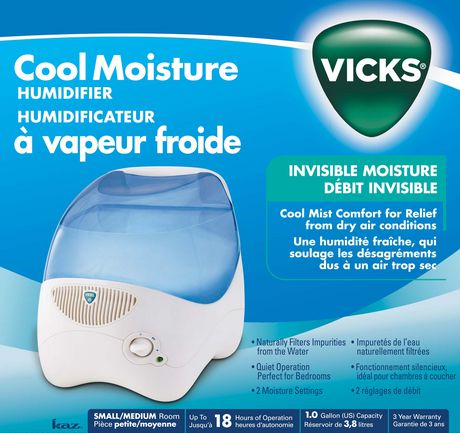 Vicks 174 Cool Mist Evaporative Humidifier Walmart Canada