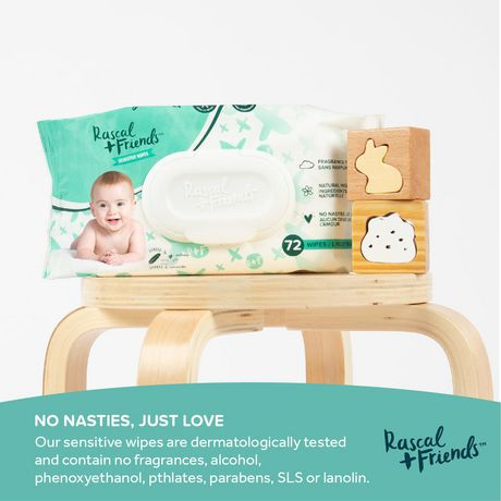 Rascal + Friends Sensitive Baby Wipes - image 5 of 8
