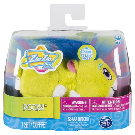 """Zhu Zhu Pets - Rocky, Furry 4"""" Hamster Toy with Sound And Movement - image 2 of 4"""