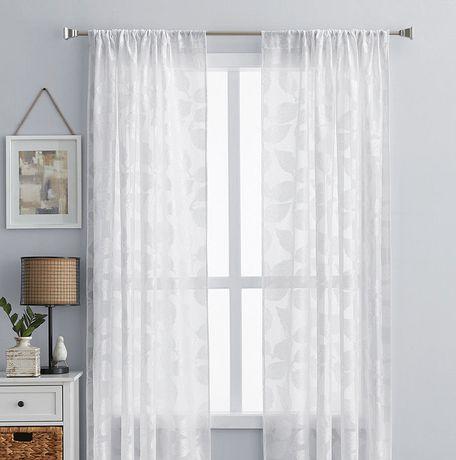 Panneau de fenêtre hometrends blanc transparent - image 1 de 1