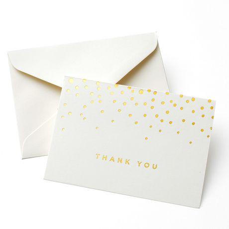 30a93d9166577 Gartner Studios Gold Foil Dot 'Thank You' Cards