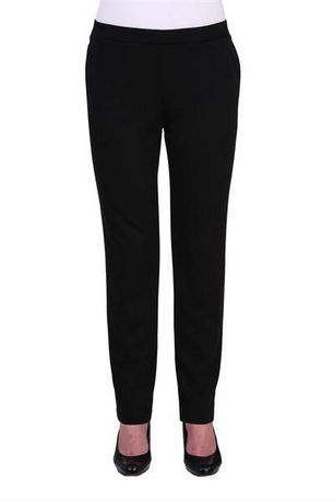 Alia Women's Ribbed Pull-On Straight Leg Pants - image 1 of 3