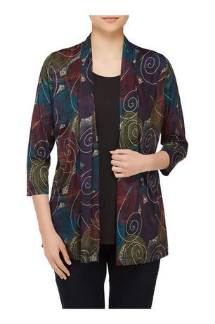 Alia Women's Fooler Cardigan with Inner Blouse - image 1 of 3
