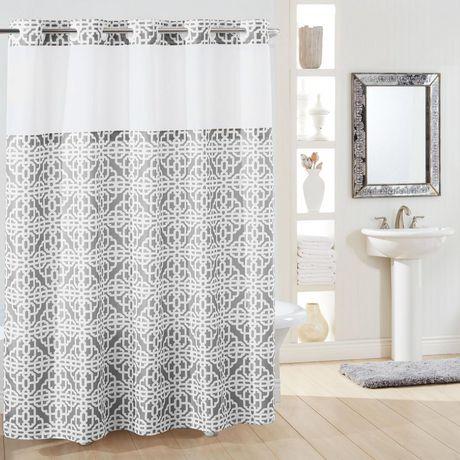hookless® brand 3-in-1 brana shower curtain - grey