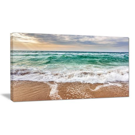 tableau mural sur toile design art bord de mer vagues cument d 39 un bleu cristal walmart canada. Black Bedroom Furniture Sets. Home Design Ideas