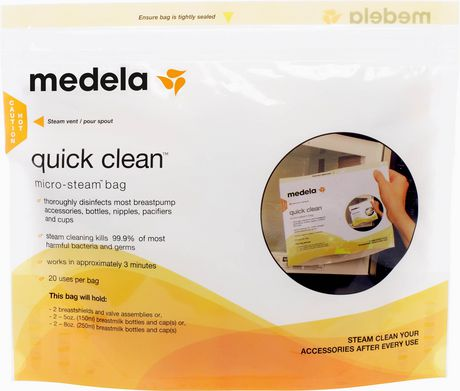 Medela Quick Clean Micro-Steam Bags - 5 Bags - image 1 of 3