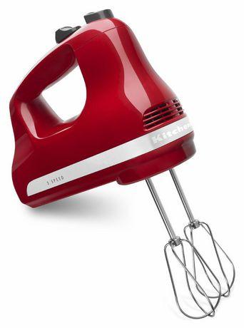 White 5-speed hand mixer from KitchenAid
