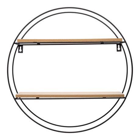 Truu Design Decorative Round Floating Wall Shelf - image 3 of 5