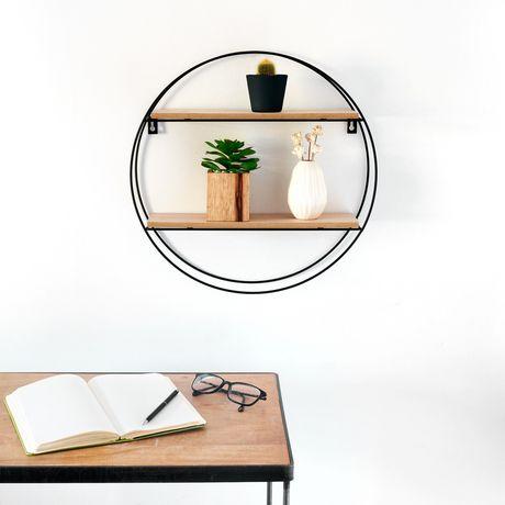 Truu Design Decorative Round Floating Wall Shelf - image 5 of 5