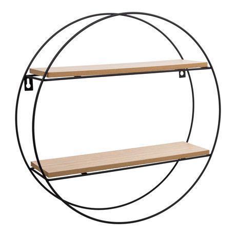 Truu Design Decorative Round Floating Wall Shelf - image 2 of 5