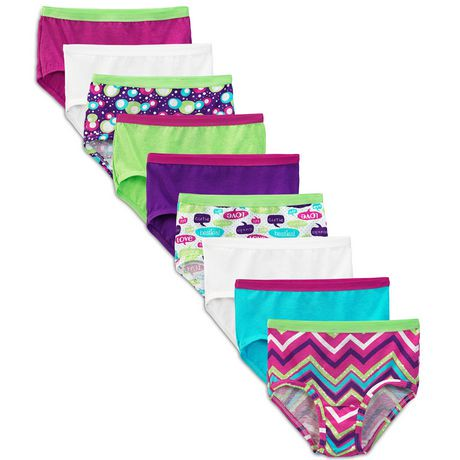 Fruit Of The Loom Girls Cotton Brief 9 Pack Walmart Canada