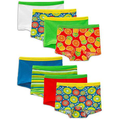 Fruit of the Loom Girls Boy Shorts, 8-Pack - image 1 of 3