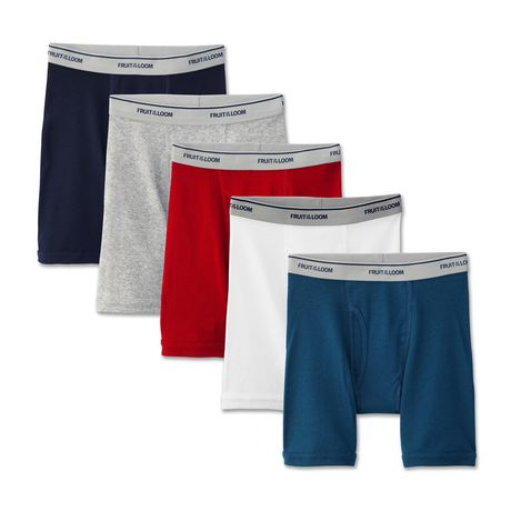 fruit of the loom boys 5 pack boxer briefs walmart canada