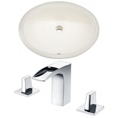 American Imaginations 19.75-in. W Undermount Sink Set Biscuit - image 1 of 6