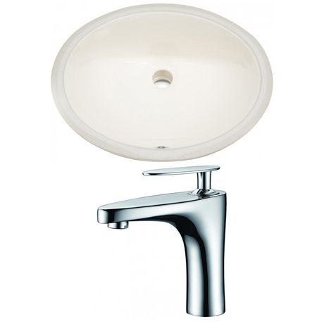 American Imaginations 19.75-in. W Undermount Sink Set Biscuit - image 1 of 7