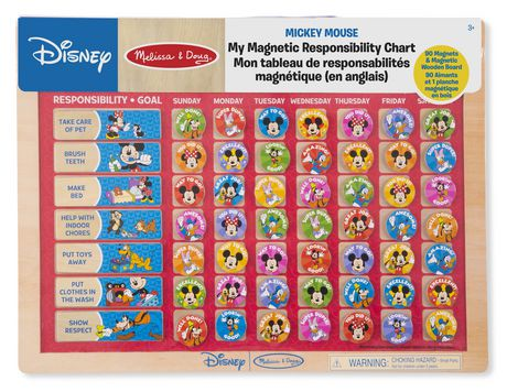 Melissa doug disney mickey mouse my magnetic responsibility chart