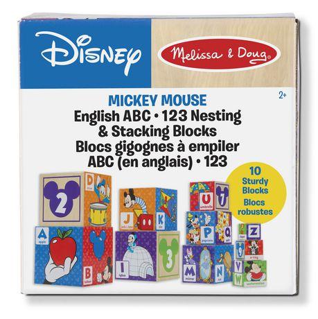 Melissa Doug Disney Mickey Mouse English Abc 123 Nesting