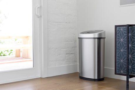 Nine Stars Motion Sensor Touchless 13.2-Gallon and 2.1 Gallon Trash Can Combo - image 5 of 6