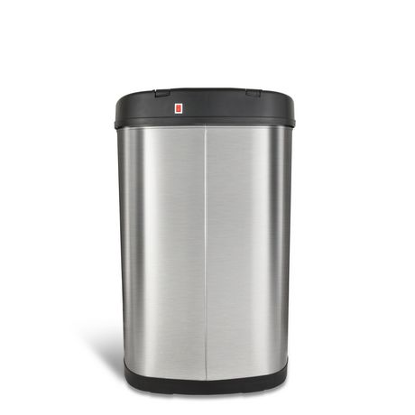 Nine Stars Motion Sensor Oval Touchless 13-Gallon Trash Can - Stainless Steel - image 4 of 6