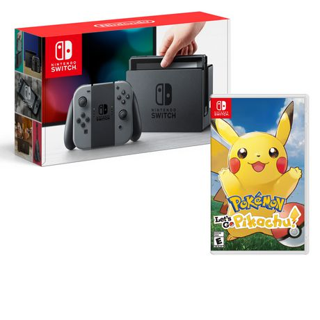 Nintendo Switch Console with Pokemon Let's Go Pikachu! Bundle - image 1 of 1