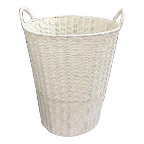 Panier de rangement en corde blanche avec poignée - image 1 de 1