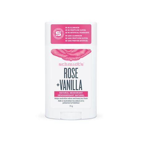 Schmidt's Rose & Vanilla Natural Deodorant Stick - image 2 of 7
