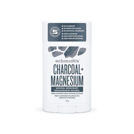 Schmidt's Charcoal + Magnesium Natural Deodorant Stick 75 GR - image 2 of 3