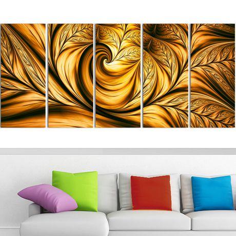D coration murale sur toile design art reve d 39 or for Decoration murale walmart