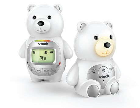 VTech Teddy Bear DM226 DECT 6.0 Digital Audio Baby Monitor with Night Light, 1 Parent Unit, Silver & White - image 3 of 3