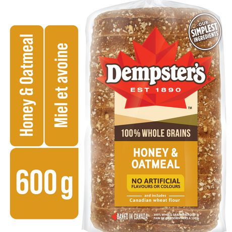 Dempster's® 100% Whole Grains Honey & Oatmeal Bread - image 1 of 8