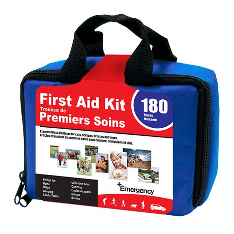 Car First Aid Kit >> Emergency First Aid 180 Piece Essential First Aid Kit