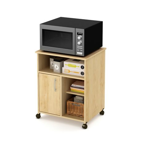 South Shore Smart Basics Microwave Cart With Storage On Wheels | Walmart  Canada