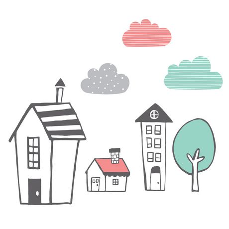 South Shore DreamIt Pink And Black Night Garden House In The Hood Wall  Decals | Walmart Canada Part 70