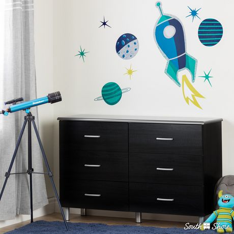South Shore DreamIt Blue and Turquoise Cosmic Wall Decals - image 2 of 4