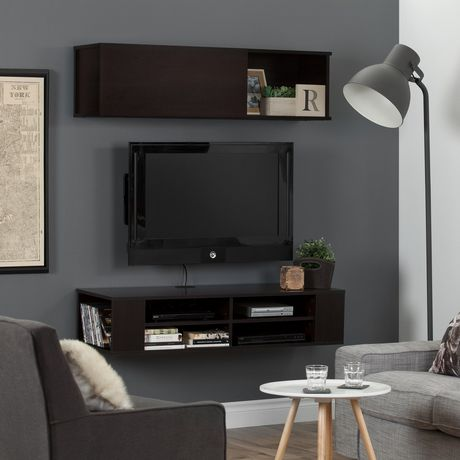 South Shore City Life 48 Wall Mounted Media Console and Storage