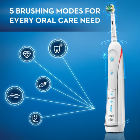 Oral-B Pro 5000 SmartSeries Power Rechargeable Electric Toothbrush Powered by Braun - image 8 of 9