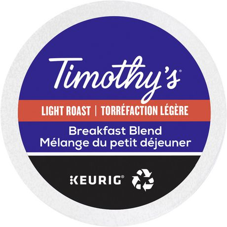 Keurig® Timothy's® Breakfast Blend Coffee Light Roast Recyclable K-Cup® PODS - image 4 of 5